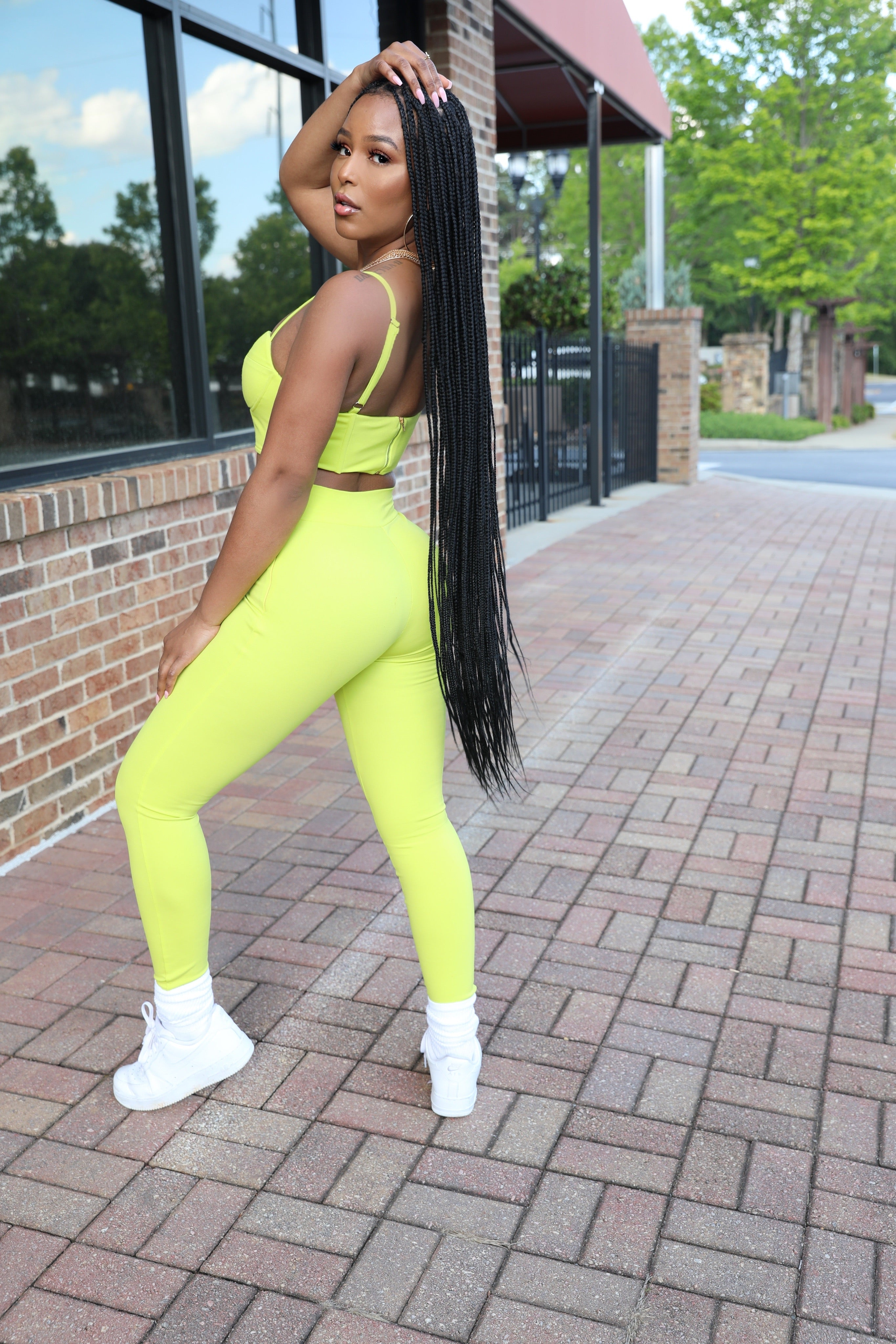 LIMIN | Lime High-Waist Pants