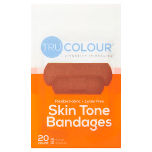 Tru-Colour Skin Tone Bandages: Brown-Dark Brown (Orange Bag) - Tru Colour Bandages Australia Skin Tone Bandages