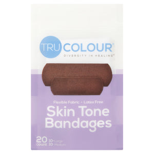 Tru-Colour Skin Tone Bandages: Dark Brown ( Purple Bag) - Tru Colour Bandages Australia Skin Tone Bandages