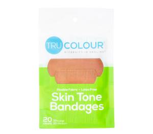 Tru-Colour Skin Tone Bandages: Olive-Moderate Brown (Green Bag) - Tru Colour Bandages Australia Skin Tone Bandages