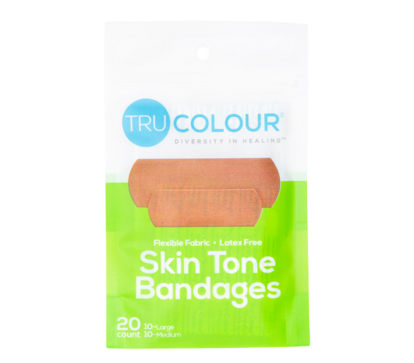 Tru-Colour Skin Tone Bandages: Olive-Moderate Brown (Green Bag)