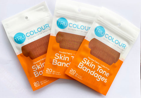 Tru-Colour Adhesive Bandages Orange- X 3 Packs - Tru Colour Bandages Australia Skin Tone Bandages