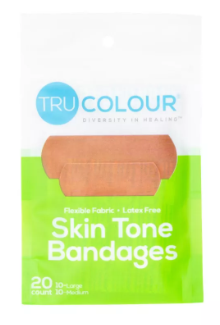 Tru-Colour Adhesive Bandages Green- X 3 Packs