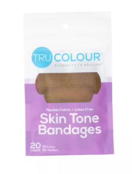 Set of Three Tru-Colour Adhesive Bandages Orange/Purple/Green- 20 pieces each pack