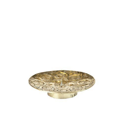 Moroccan Handmade Gold Candle Holder Plate