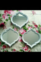 Arabesque Small White Mirror