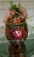 Set of 4 Moroccan Arabian Indian Vintage Ornate Glass Lanterns Stunning and Rare!