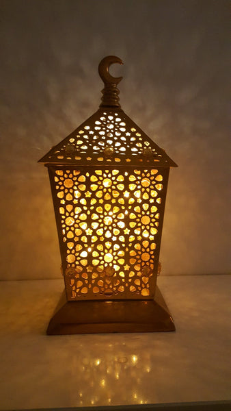 Islamic Arabian Crescent Chand Gold Lantern Rare