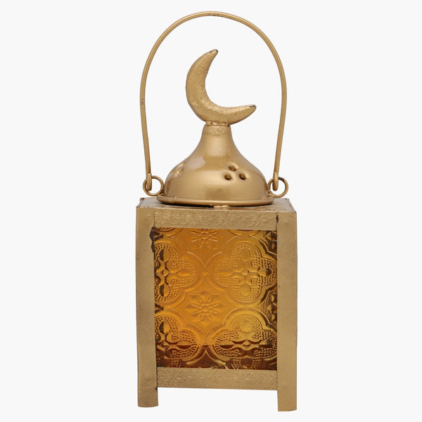Islamic Arabian Gold Metal Handmade Chand Lantern
