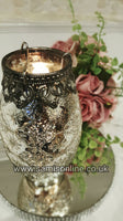 Tall Vintage Arabesque Tea Light Candle Holder New
