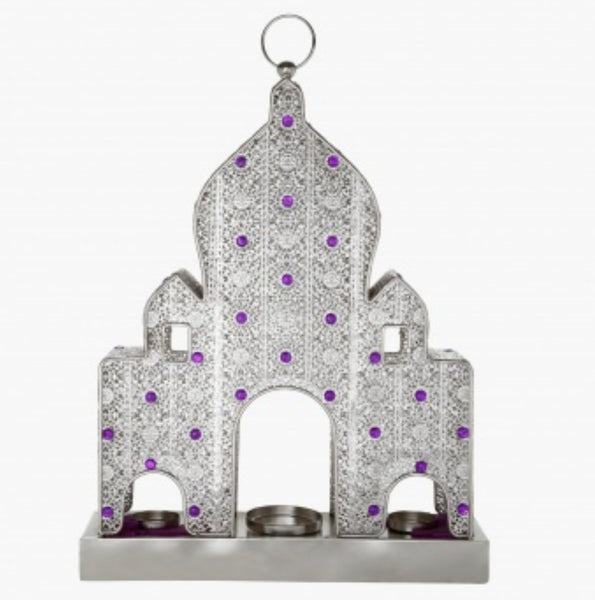 Unique Metal Cut Out Handmade Mosque Candle Holder