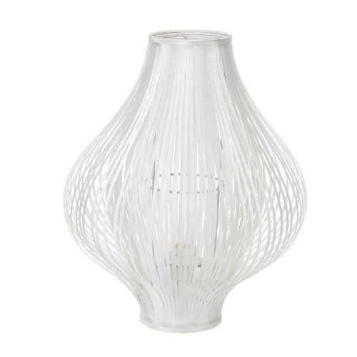 Contemporary Fabric BULB Cut Table Lamp WHITE Uniq