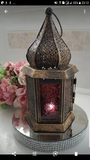 Vintage Arabian Moroccan Antique Metal Lantern