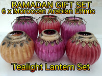 Eid Ramadan Gift Set 6 X Tealight Lanterns