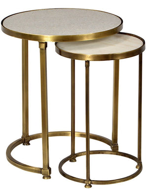 Small Spaces Antique Brass Side Table