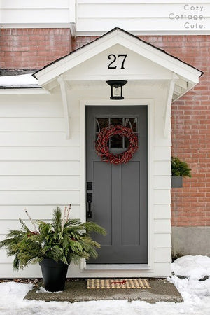 Neutral Gray Front Door