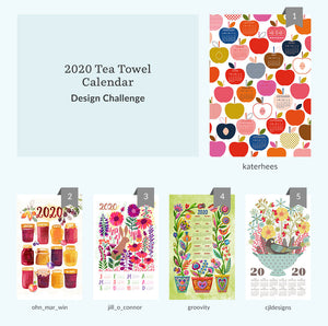 See Where You Ranked in the 2020 Tea Towel Calendar Design Challenge