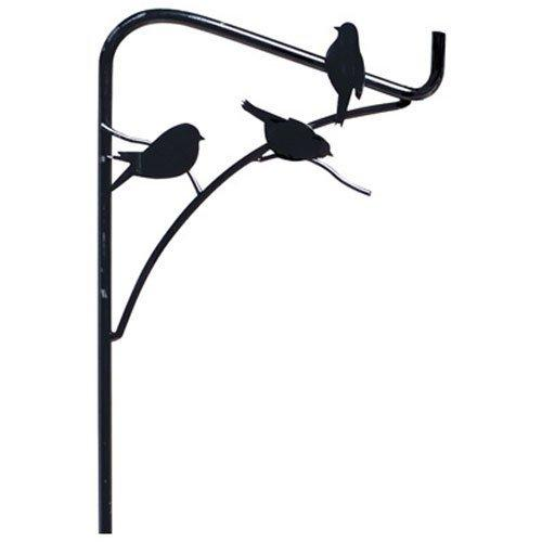 Panacea Perching Birds Single Shepherd Hook, 84-Inch, Black