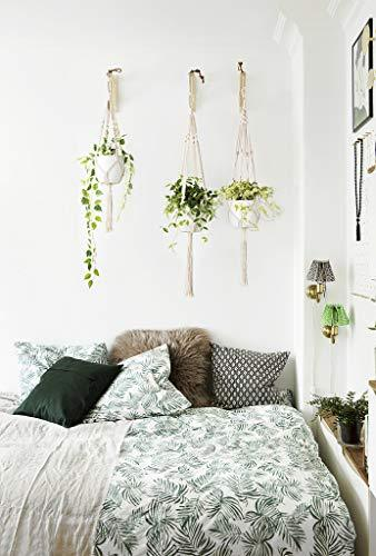 Plant Hangers Indoor Outdoor Hanging Planter Basket Cotton Rope 4 Legs 41 Inch: Garden & Outdoor