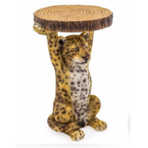 52cm Leopard Trunk Slice Side Table