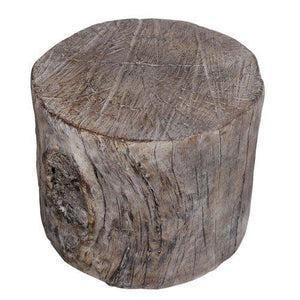A&B Home Round Tree Stump Cement Pedestal/Plant Stand 10""