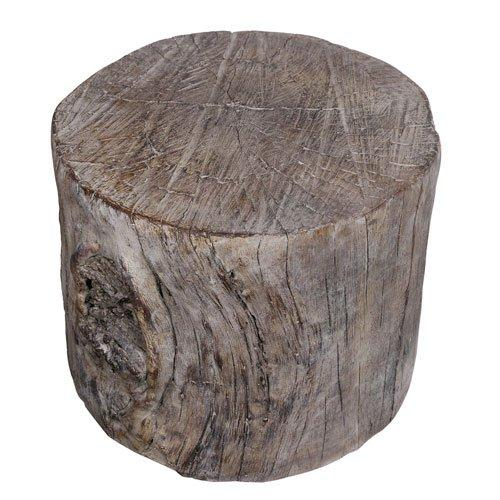 A&B Home Round Tree Stump Cement Pedestal/Plant Stand 10