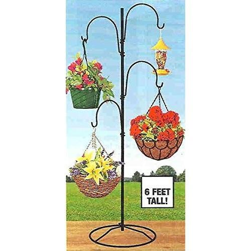 6Ft. Metal 4 Arm Indoor/Outdoor Plant Stand