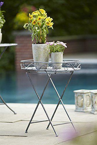 Silver Folding Metal Plant Stand