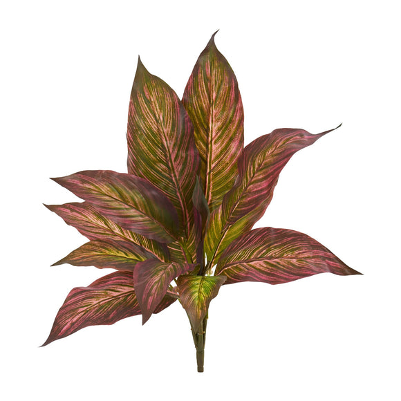 "17"" Musa Leaf Bush Artificial Plant (Set of 12)"