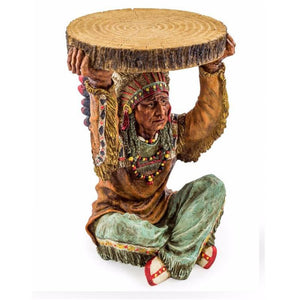 52cm American Indian Trunk Slice Side Table