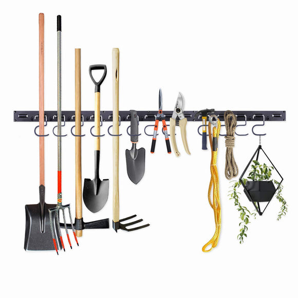 Save on adjustable storage system 48 inch wall holders for tools wall mount tool organizer garage organizer garden tool organizer garage storage