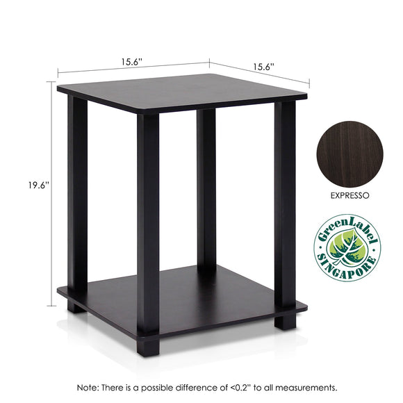 Furinno End Table 12127EX/BK