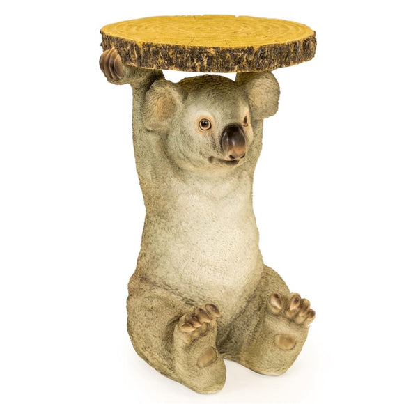 52cm Koala Bear Trunk Slice Side Table