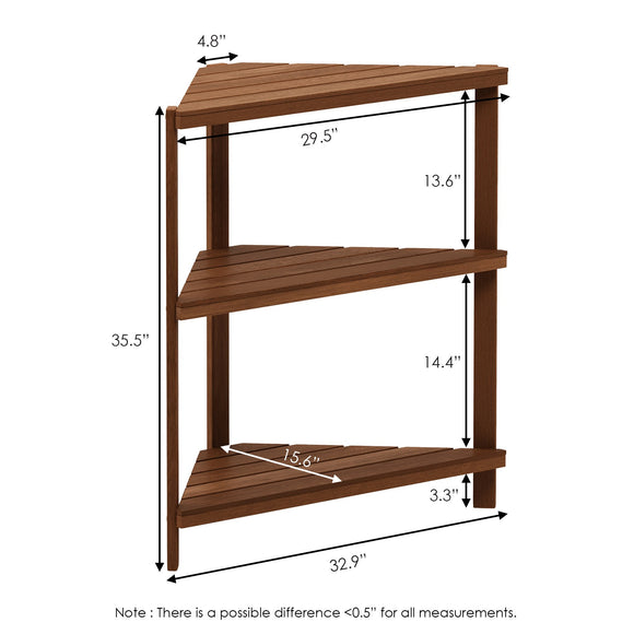 Furinno 3-Tier Corner Shelf FG18445