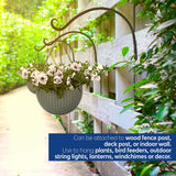 "7Penn Hanging Plant Bracket 4-Pack Curved 14"" Inch Plant Hook Wall Plant Hanger, Windchime Hanger, Bird Feeder Hook"