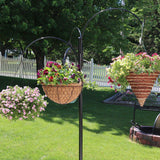 Sunnydaze 4-Arm Hanging Basket Plant Stand with Adjustable Arms, Indoor/Outdoor Flower Hanger, 84 Inch Tall