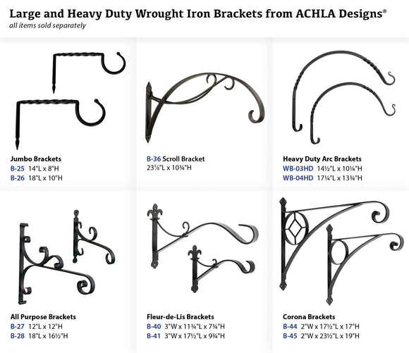 Achla Designs Jumbo Bracket Wall Hook, Large (B-26)