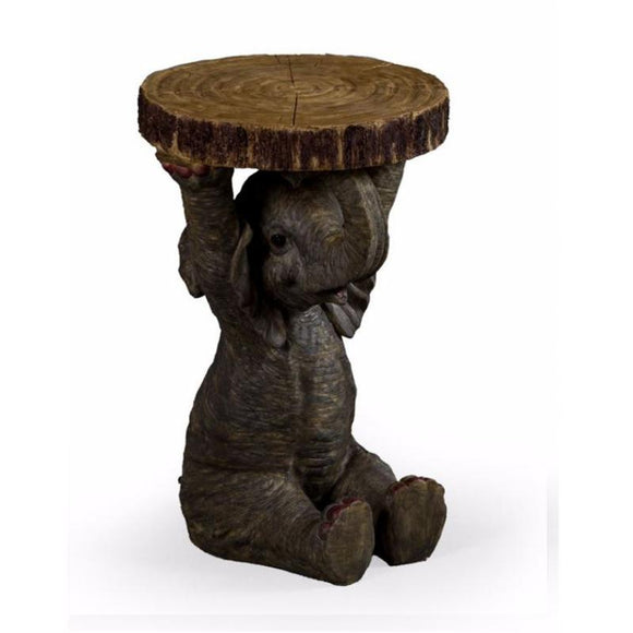48cm Elephant Trunk Slice Side Table