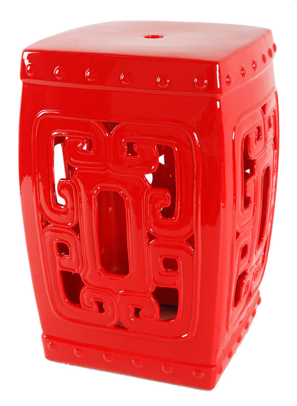 AB Home Classic Vintage Patio Stool In Red AV69727
