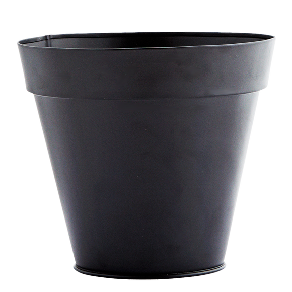 BLACK TAPERED PLANT POT
