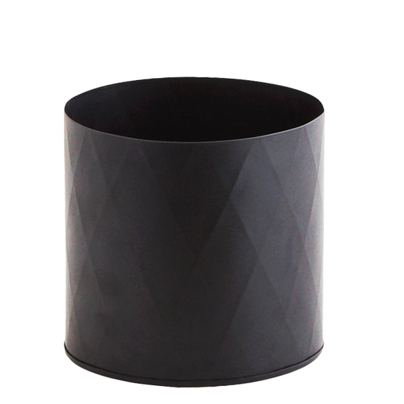 BLACK PLANT POT MEDIUM