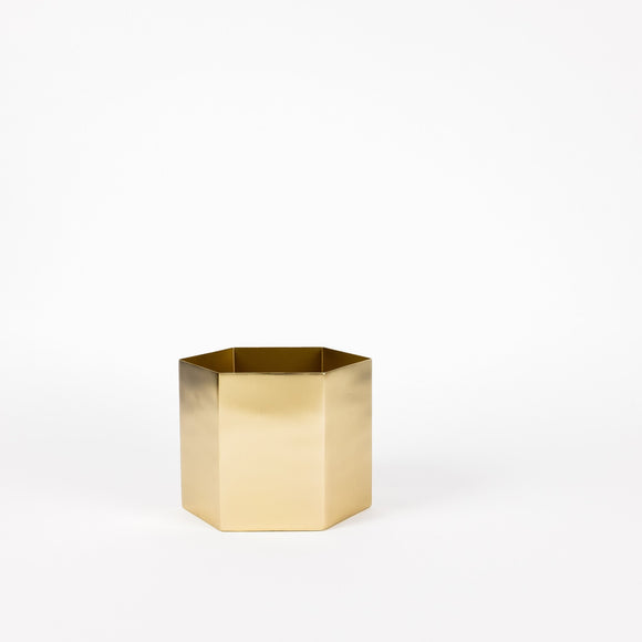 Ferm Living Brass Hexagon Pot (Extra Large)
