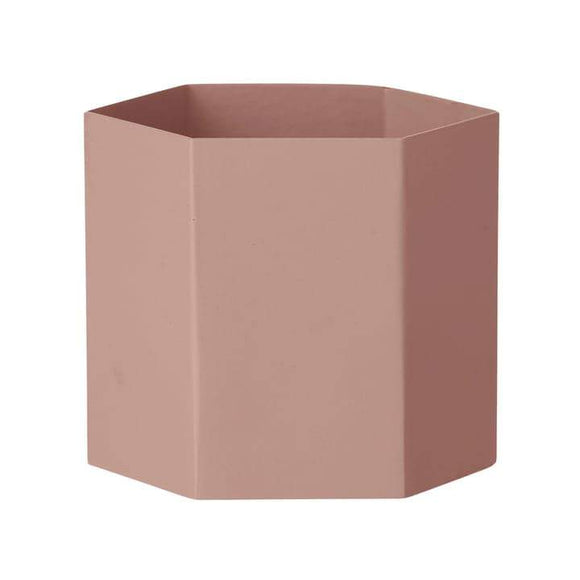 Hexagon Pot XL Rose
