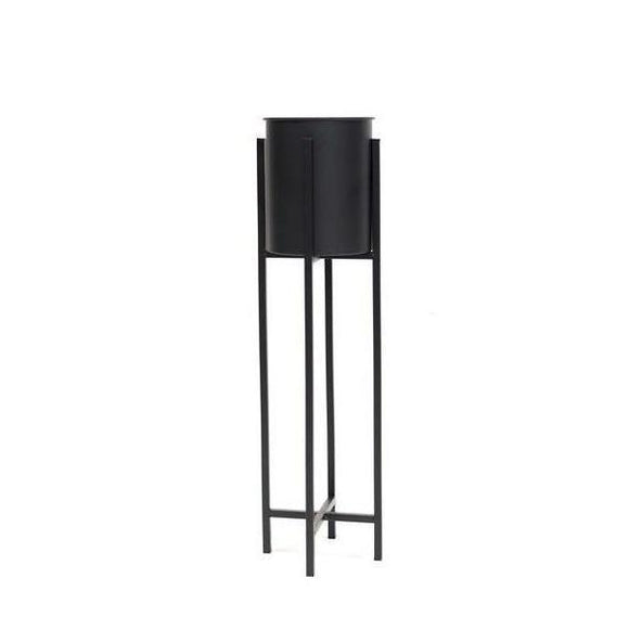 Plant Stand with Black Pot - Large