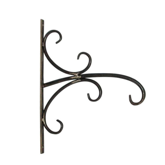 Gunmetal Hanging Plant or Unique Hanging Clock Or Lantern Stand