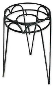 "(12) Border Concepts 72245 10"" x 21"" Tall Black Wrought Iron Hampton Plant Stand"