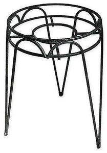 "(3) Border Concepts 72240 10""  x 15"" Tall Black Wrought Iron Hampton Plant Stand"