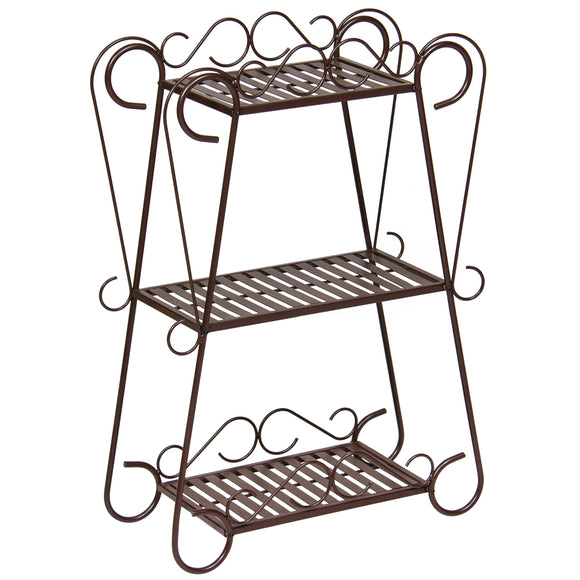 3-Shelf Plant Stand - Bronze