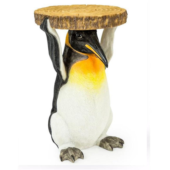 52cm Penguin Trunk Slice Side Table