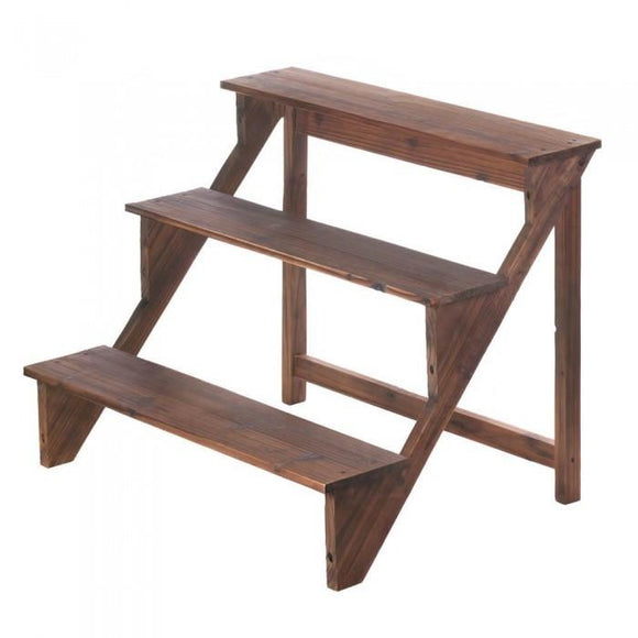 Summerfield Terrace Wooden Steps Plant Stand